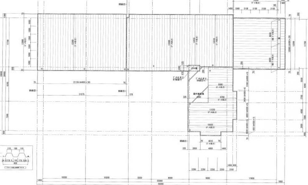 屋根デッキ割付図