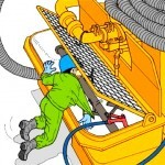 ポンプ車安全作業10