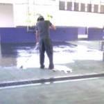 工場の塗床を改修しました。。その2