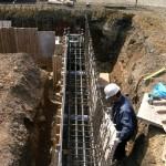 鉄骨造基礎の「型枠取付状況」