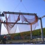建築工事における「親綱、支柱、安全ネット」その2