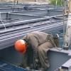 建築現場の鉄骨工事における「高力ボルト接合状況」